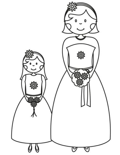 17 Wedding Coloring Pages For Kids Who Love To Dream About Their Big Day  Unicorn Coloring Pages, Wedding Coloring Pages, Coloring Books