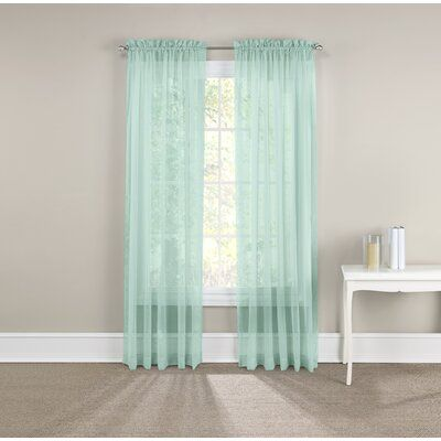 Solid Sheer Rod Pocket Curtain Panels Size Per Panel 59 W X 63 L
