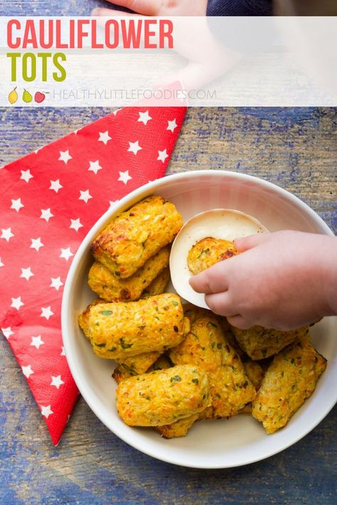 these cauliflower tots are a veggie packed finger food for kids containing 4 different veggies perfect for baby led weaning hiddenveg fingerfoods