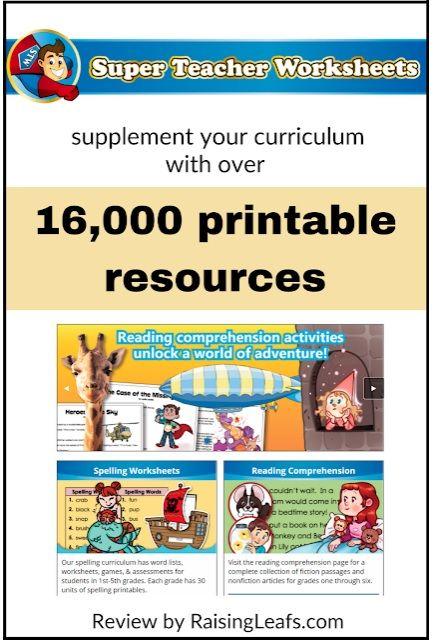 Review Of Super Teacher Worksheets Super Teacher Worksheets Teacher Worksheets Super Teacher Teacher websites for worksheets