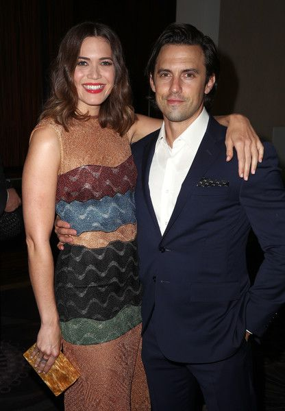 Actors Mandy Moore and Milo Ventimiglia attend the 33rd Annual Television Critics Association Awards.