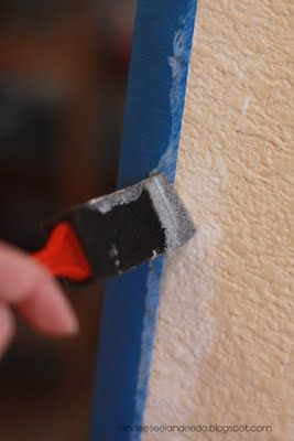 using mod podge on painters' tape to get a perfectly clean line.