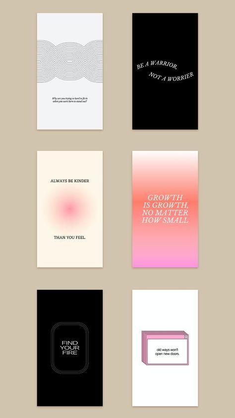 Inspirational social Media Quotes. Gradient Design. Vibrant Colors.