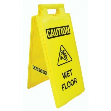 Fold Up Floor Sign Caution Wet Floor Sf936p Fold Up Safety Floor Signs Make Your Caution Clear On All Four Sides In 2020 Wet Floor Wet Floor Signs Safety Floor