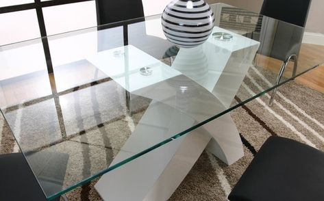 Cramco Mensa White Modern Glass Top 5pcs Dining Set In Dining Tables In 2019 Table Dining Room Sets Dining Table