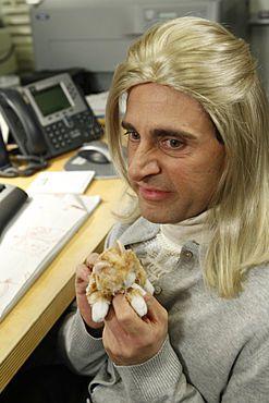 Michael dressed as Angela.