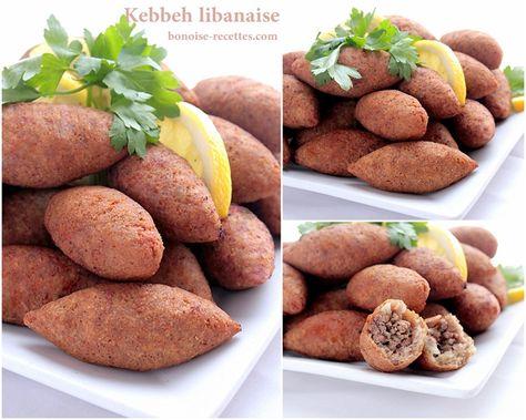 recette libanaise | Kebbeh ou kebbe entree libanaise -