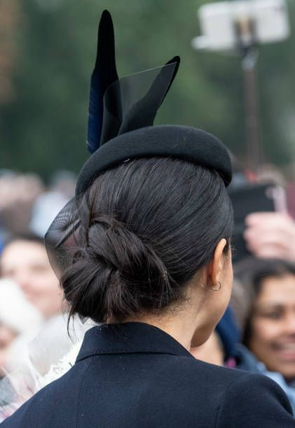Duchess Meghan At Christmas 2020 Meghan, Duchess of Sussex attends Christmas Day Church service at