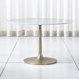 Nero 48 White Marble Dining Table Crate And Barrel Dining Table