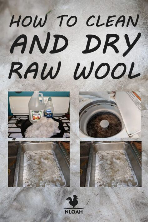 We show you how to clean raw wool from your sheep in two ways: by hand in the sink, or in the washer. You need to know the safety precautions to avoid ruining your wool. Spinning Wool, Hand Spinning, Sheep Shearing, Sheep Farm, Sheep Wool, Wet Felting, Fabric Dolls, Wool Blanket, Wool Felt