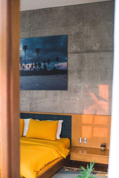 Une Maison Béton Brut à Bali Chambres Et Salles De Bains