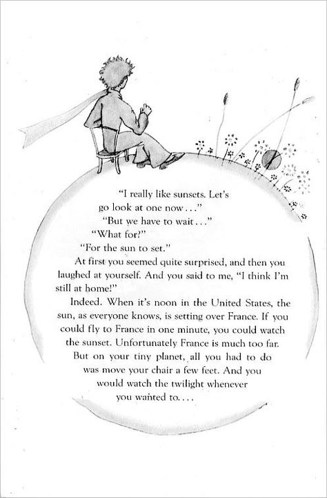 Here's a page from The Little Prince