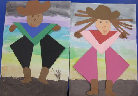Shape Cowboys & Cowgirls   # Pin++ for Pinterest #