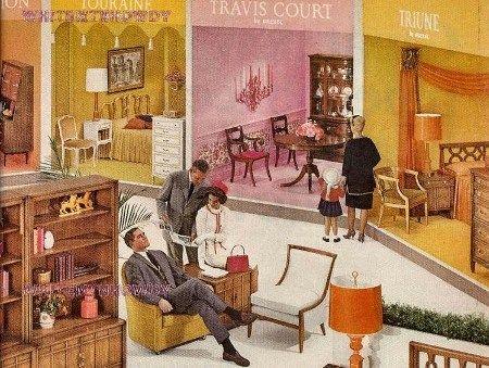 1964 Drexel Meridian Living~Dining Room Furniture Ad Triune And Fair Drexel Dining Room Furniture Review