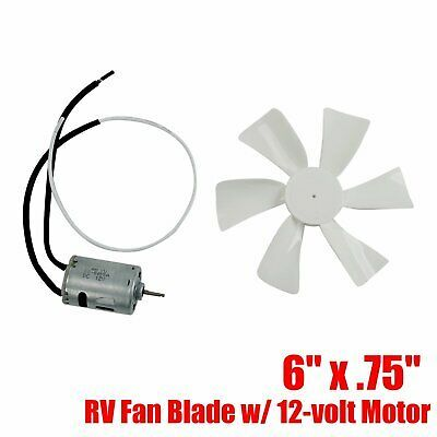 Sponsored Ebay 6 X 75 Rv Vent Motor Bath Exhaust Fan Blade 12v Home Bathroom Mobile Home Bath Exhaust Fan Fan Blades Exhaust Fan
