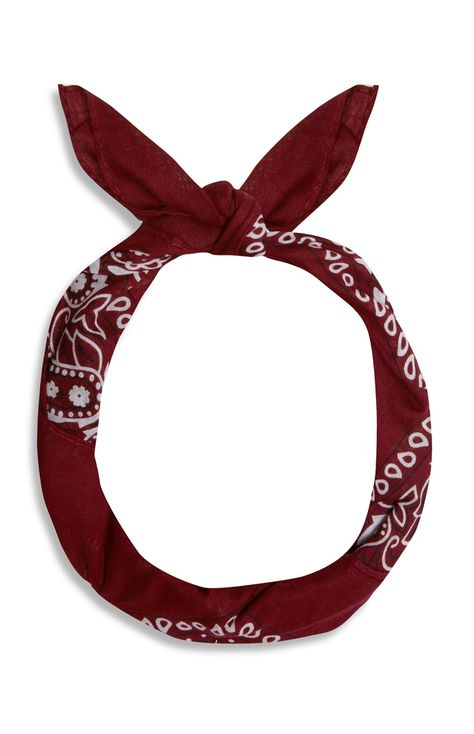 Burgundy Cotton Bandana