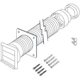 Electrolux Cdk5f Flexible Ducting Kit 120mm Electrolux Kit Flexibility