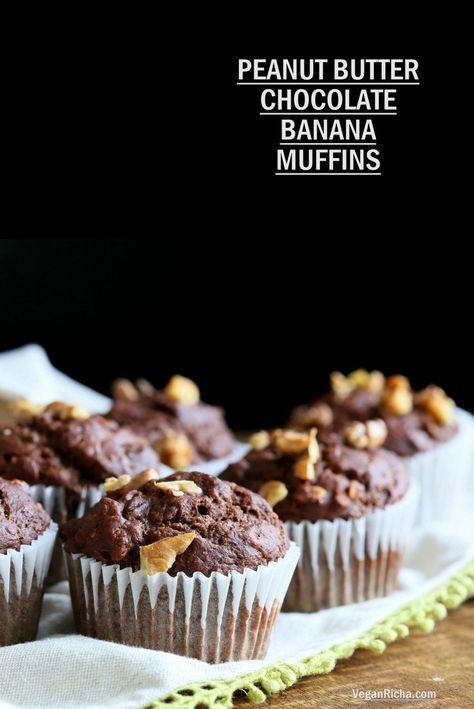 Peanut Butter Chocolate Banana Muffins Recipe Chocolate Banana