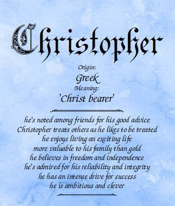 Meaning Of The Name Christopher Boy Name Meanings Hebrew Baby Names Names With Meaning
