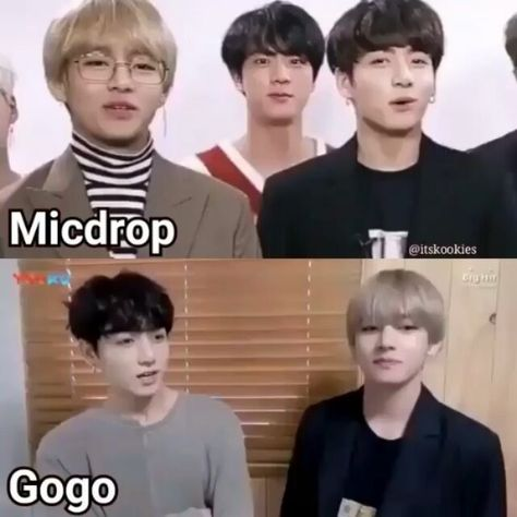 Mic drop or gogo?💕 #bangtanboys #parkjimin #jin #vmin #junghoseok #beyondthescene #hoseok #kookie #taetae #bangtansonyeondan #suga…