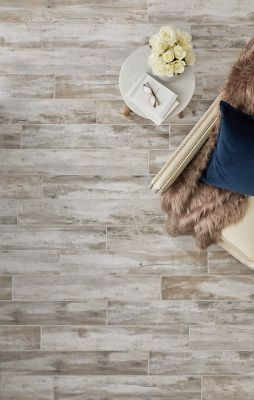 Sligo Taupe Porcelain Wood Look Wall And Floor Tile 6 X 35 In