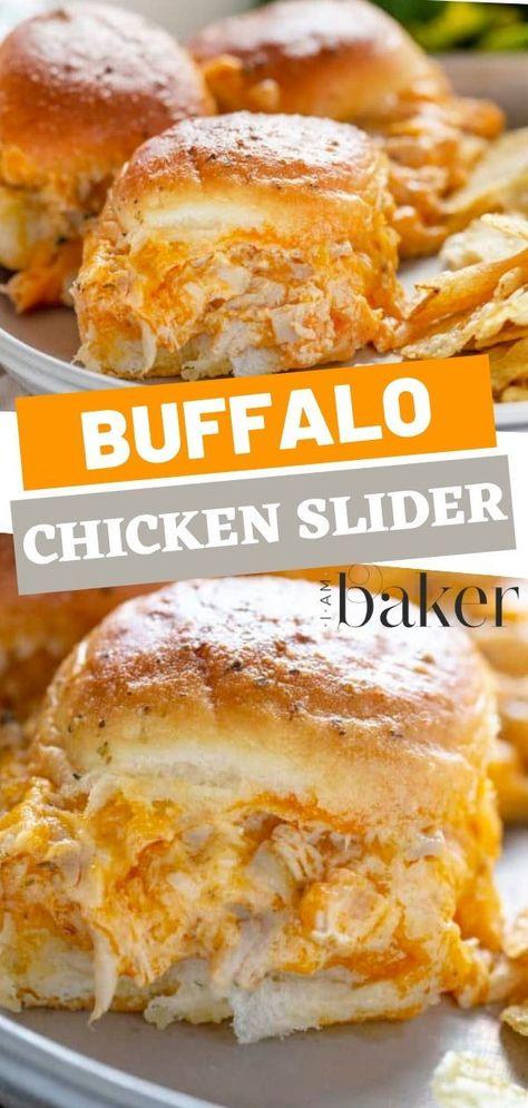 Buffalo Chicken Sliders {VIDEO} | i am baker