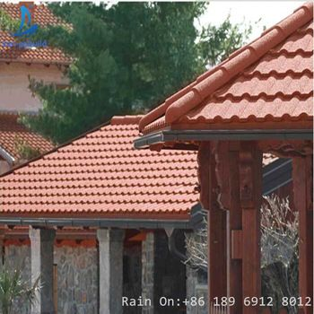 Milano Stone Coated Metal Roof Tile Sheet In Zimbabew Zambia Mozambique Sangbuild Stonecoatedmetalrooftile Steel Metal Roof Tiles Metal Roof Aluminum Roof