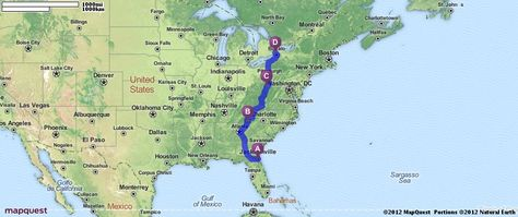 Driving Directions From Jacksonville Florida To Niagara