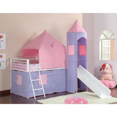 Coaster Furniture Bunks Princess Castle Tent Left Bed Purple