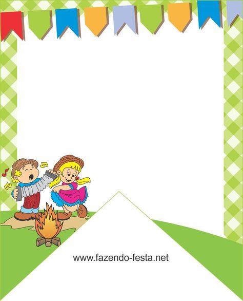 convites para festa junina em branco