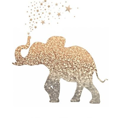 GATSBY ELEPHANT Art Print, could make a tattoo look similar to this!!