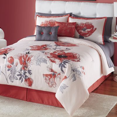 Pin By Lori On The Gray Red Cottage Bedding Sets Bed