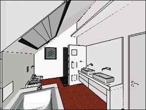 Bad Dachschräge | bad | Pinterest | Dachschräge, Bäder und Badezimmer | {Bad dachschräge grundriss 1}