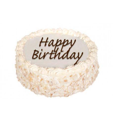 Sensational Sponge Birthday Cake With Nuts With Personalised Message Personalised Birthday Cards Vishlily Jamesorg