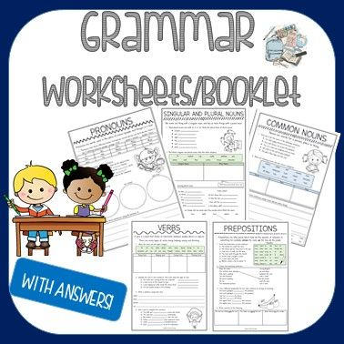 This Is A Collection Of Grammar Worksheets Including Cover Page And Answers Each Worksheet Consists Of 3 4 Act Grammar Worksheets Grammar Nouns And Pronouns Act grammar worksheets