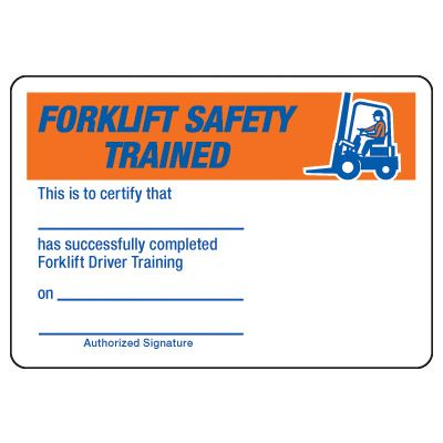 Forklift Certification Card Template In 2020 Card Template Certificate Templates Templates