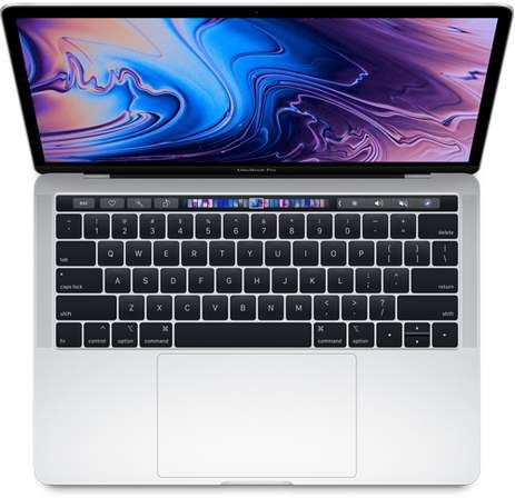AppleApple 13  MacBookProwith Touch Bar & Touch ID - 2.4GHz Intel Core i5 - 8GB RAM - 512GB SSD - Silver