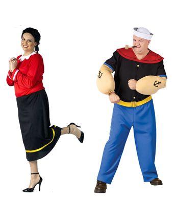 Women's Olive Oyl and Popeye Couple Costume