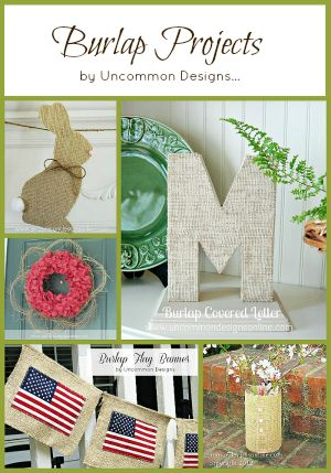 burlap projects uncommon designs
