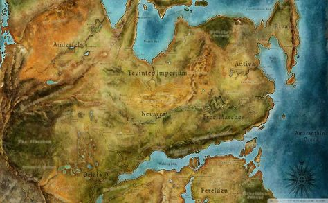 Dragon Age World Map HD Wallpaper   Wallpapers   Pinterest ...