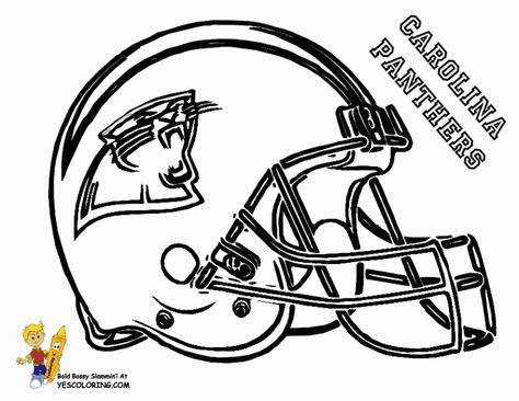 Carolina Panthers Football Helmet Coloring Pages Football