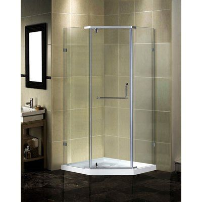 Aston 48 X 77 5 Rectangle Hinged Shower Enclosure In 2020 Neo
