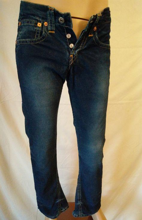 Vintage 90's unisex Levi's 907 blue corduroy men's pants size 29x32