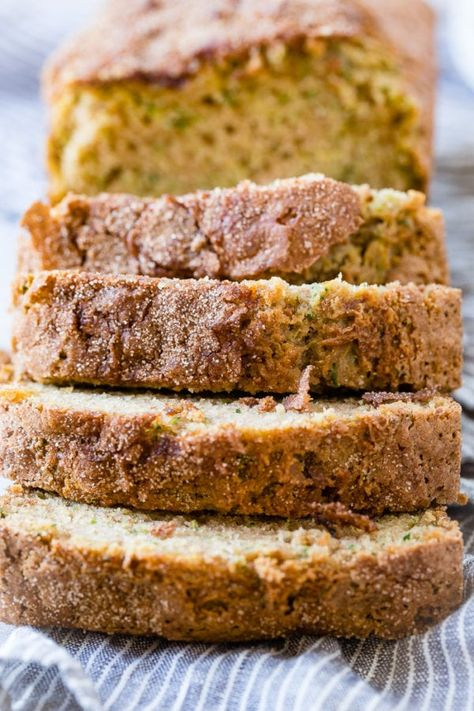 I hated zucchini bread when I was little, searched for years for a recipe I'd love as an adult and this is The Perfect Zucchini Bread Recipe. Take one for your neighbor and keep the other for you! #zucchini #fall #fallrecipes #fallrecipe #fallharvest #fallfood #zucchinibread #quickbread #breadrecipe #easyrecipe #snackfood