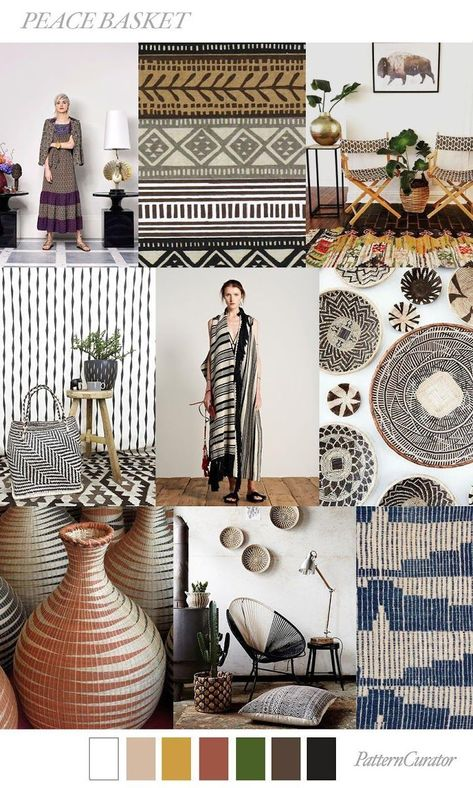 TREND | PATTERN CURATOR - PEACE BASKET . SS 2019 #FashionTrends #FashionTrends2019
