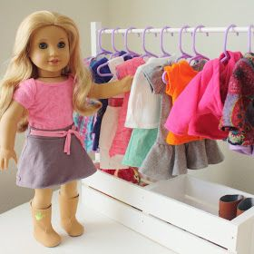 Fabric Cake: DIY American Girl Clothes Rack