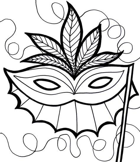 Schön Mardi Gras Maske Malvorlagen Bilder - Ideen färben - blsbooks.com