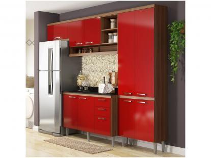 Cozinha Compacta Multimoveis Italia Com Balcao Cozinhas