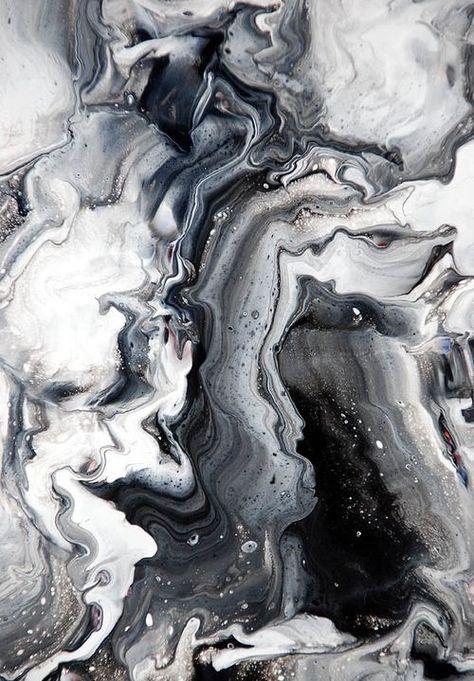 Monochromatic Marble surface pattern – black, white & grey, print pattern in…