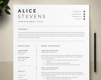 New Nurse Resume Template Registered Nurse Resume Template Etsy Resume Template Professional Resume Template Cv Template Professional